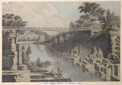 Winch Bridge, Durham, in Hutchinsons Tour